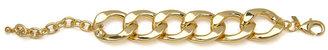 Kenneth Jay Lane Polished Gold Flat Link Bracelet