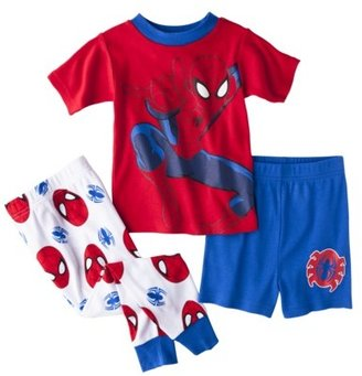 Spiderman Toddler Boys' 3-Piece Short-Sleeve Pajama Set