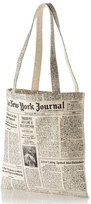 Kate Spade New York Newspaper Print Canvas Shopping Tote $24 thestylecure.com