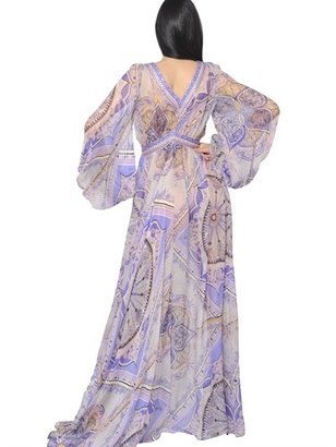 Emilio Pucci Beaded Silk Chiffon Dress