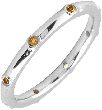 Simply Stacks Sterling Citrine Multi-stone Stackable Ring