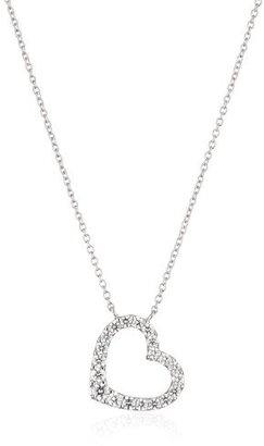 "Myia Passiello ""Timeless"" Swarovski Zirconia Heart Outline Pendant Necklace $79 thestylecure.com"