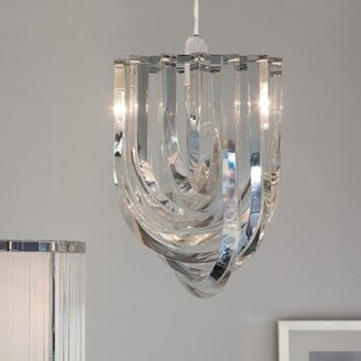 The White Company Deco Chandelier Light Shade, Clear, One Size