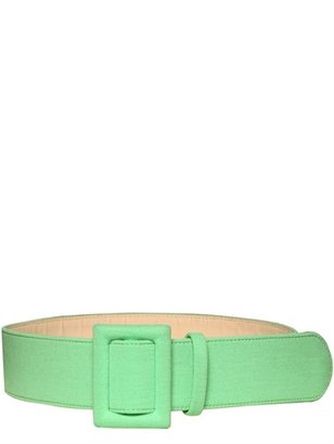 Fausto Puglisi Wool Jersey On Leather Belt