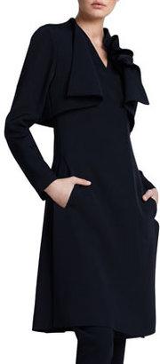 Giorgio Armani Layered Ottoman Coat, Black