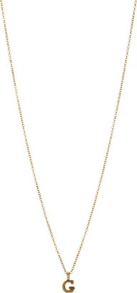 Sonya Renee Jewelry Gold 'G' Mini Block Letter Pendant Necklace