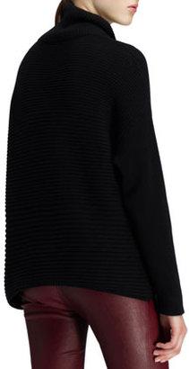 Helmut Lang Ribbed Turtleneck Fly Sweater