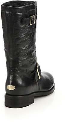 Jimmy Choo 24/7 Biker Leather Boots