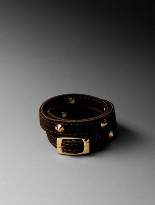 CC Skye Spike Suede Triple Wrap Bracelet
