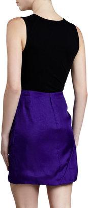 J. Mendel Sculpted Organza Miniskirt, Iris