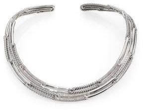 David Yurman Labyrinth Link Collar Necklace with Diamonds