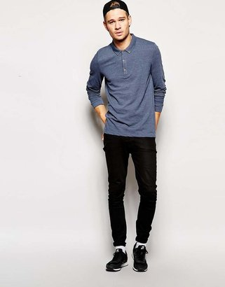 Asos Polo Shirt In Pique With Long Sleeves
