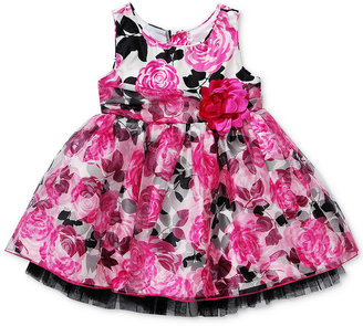 Sweet Heart Rose Baby Dress, Baby Girls Floral Dress