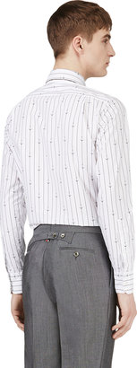 Thom Browne White Anchor & Stripe Print Shirt