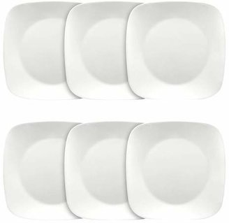 "Corelle Square Vitrelle® Plates (10.25"") White - Set of 6"