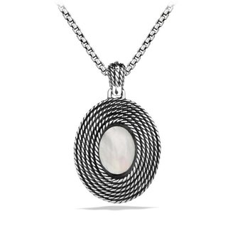 David Yurman Cable Coil Pendant with Moon Quartz and Gold