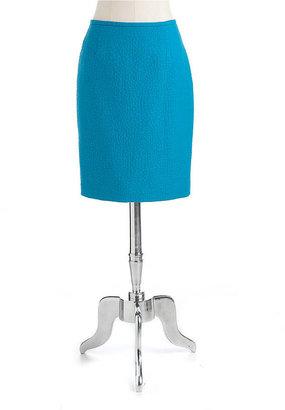 Calvin Klein Petite Jacquard Pencil Skirt