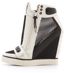 L.A.M.B. Pamela Mesh Wedge Sneakers