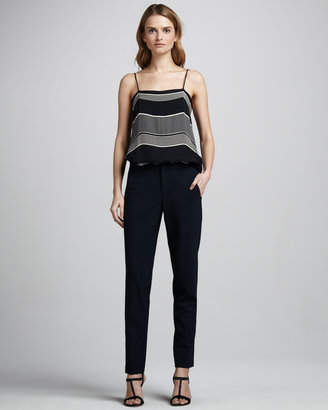 Vince Strapping Straight-Leg Crepe Pants