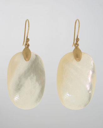 Mother of Pearl Ted Muehling Large Mother-of-Pearl Chip Earrings