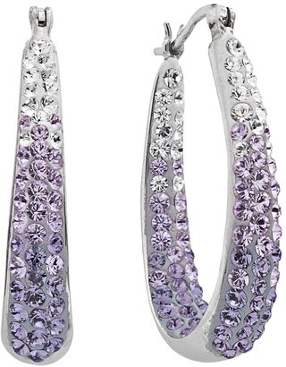 Swarovski Artistique Sterling Silver Crystal Ombre Hoop Earrings - Made with Crystals
