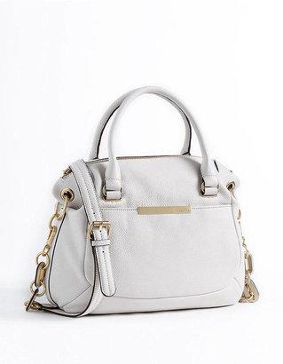 Calvin Klein Chainlink Leather Satchel Bag