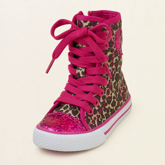 Children's Place Leopard hi-top