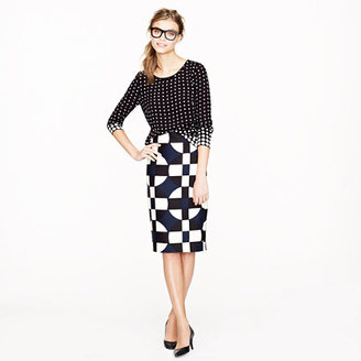J.Crew No. 2 pencil skirt in graphic print
