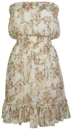 Delia's Strapless Chiffon Floral Dress