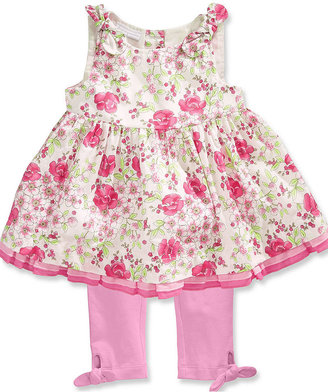First Impressions Baby Set, Baby Girls Sleeveless Dress and Leggings