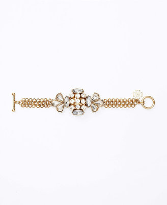 Ann Taylor Deco Crystal and Chain Bracelet