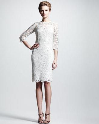 Dolce & Gabbana Three-Quarter Lace Dress