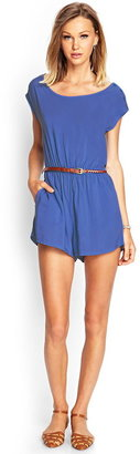 Forever 21 belted woven romper