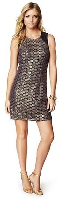Juicy Couture Gilded Floral Guipure Lace Dress