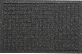 "Crate & Barrel Thirsty Squares® Charcoal 28""x18"" Mat"