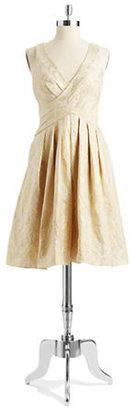 Pamella Roland PAMELLA Jacquard Fit and Flare Dress