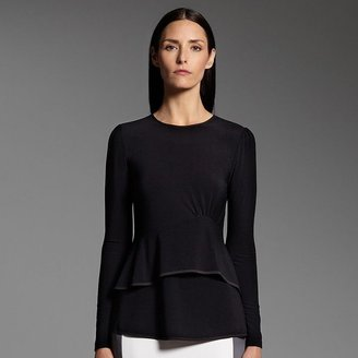 Narciso Rodriguez for designation tiered peplum top