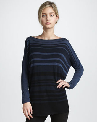 Vince Sweater with Variegated Stripes