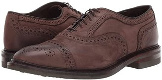 Allen Edmonds Strandmok (Brown Nubuck) Men's Lace Up Cap Toe Shoes