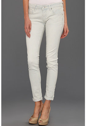 Vigoss Skinny Jagger Pinstripe in Blue/White