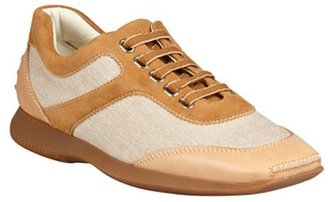 Hogan tan canvas and leather 'Dynamic' sneakers