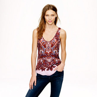 J.Crew Cate cami in iced lilac paisley