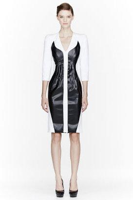 Altuzarra White Leather-insert Baxter Poly Dress