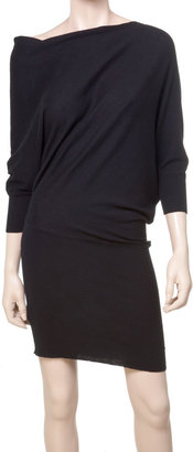 Max Studio Knitted Asymmetrical Sweater Dress