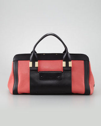 Chloé Alice Colorblock Medium Satchel Bag, Paradise Pink