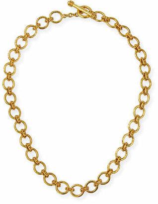 Elizabeth Locke 19k Small Elba Flat Link Necklace