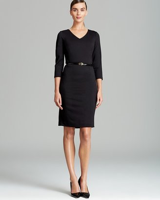 Jones New York Collection JNYWorks: A Style System by Scarlet Three Quarter Sleeve Dress