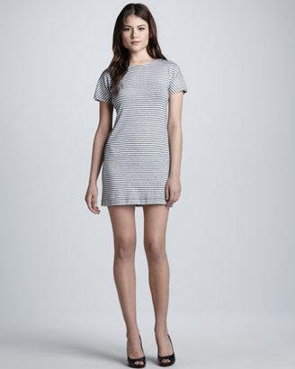 Theory Gessi Striped Knit Dress