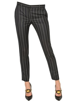 Versace Pin Stripe Cool Wool Trousers