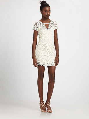 BCBGMAXAZRIA Gardenia Crochet Dress
